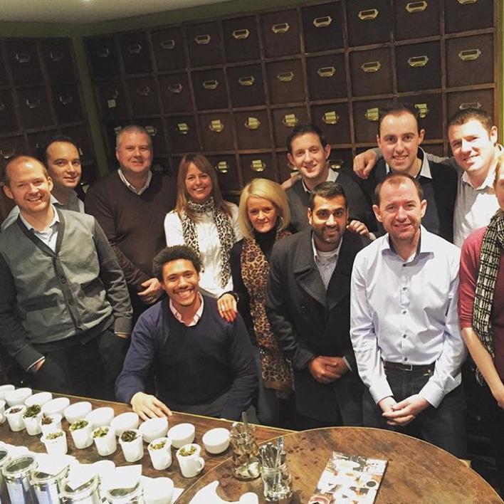 Matthew Algie take part in Suki Tea Academy