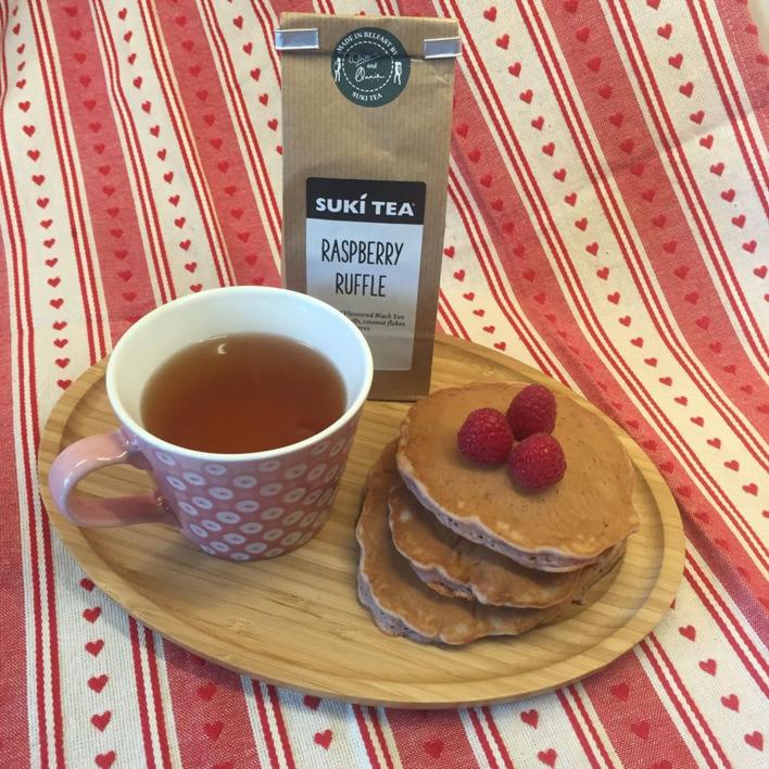 Raspberry Ruffle Pancakes