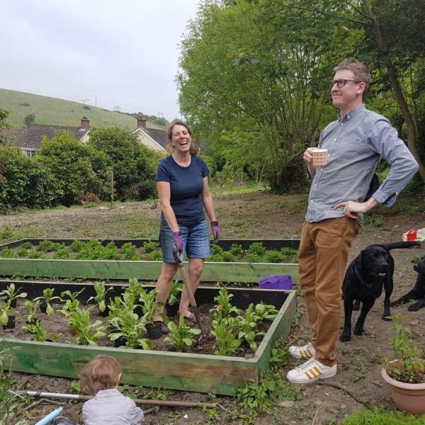 The beginning of our Herb Garden