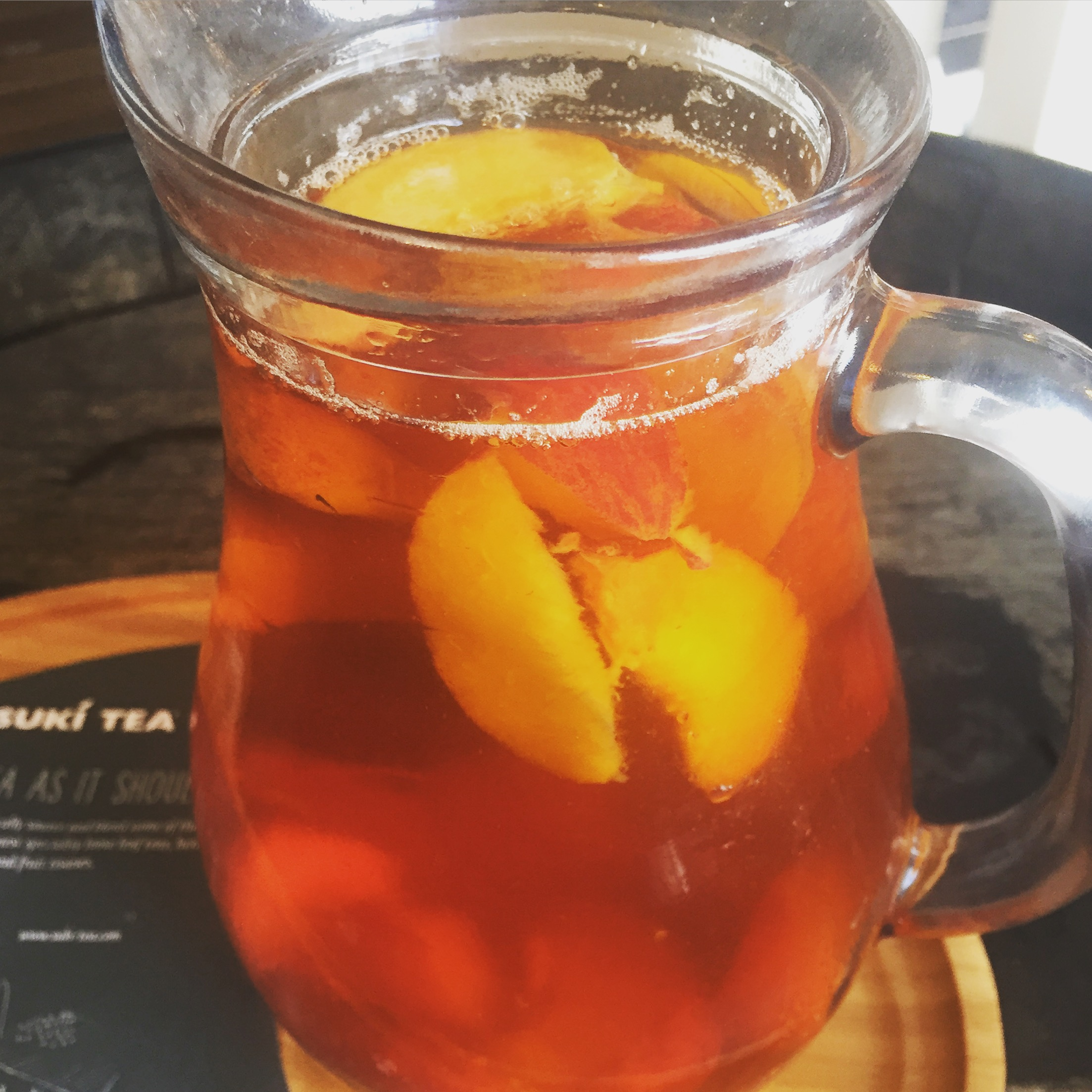 Breakfast Tea Peach Iced Tea