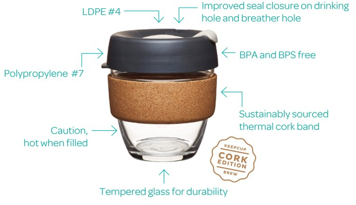 Glass Cork Keep Cup