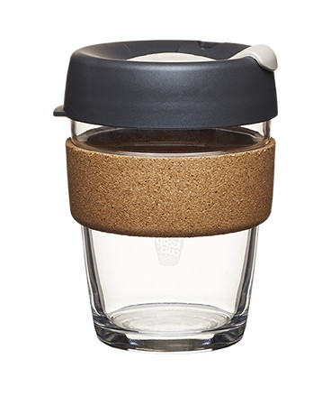 Glass cork keep cup 12oz