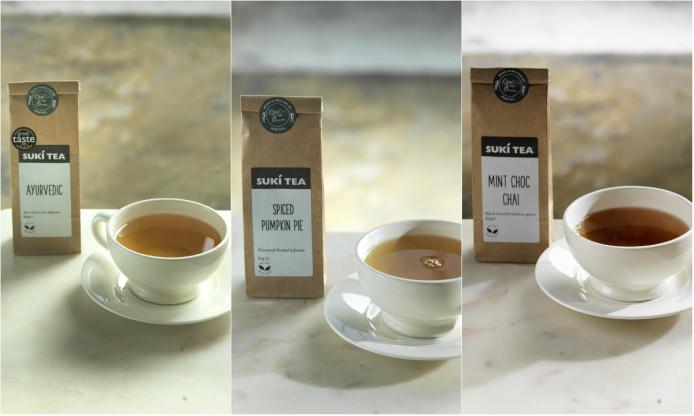 Autumn Tea, ayurvedic, spiced pumpkin, mint choc, chai,