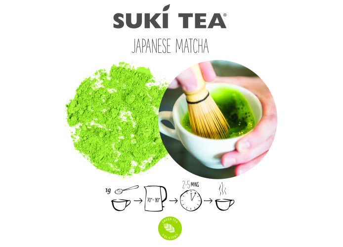 suki tea seasonal flyer postcard