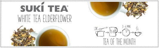 Suki White Tea Elderflower Banner
