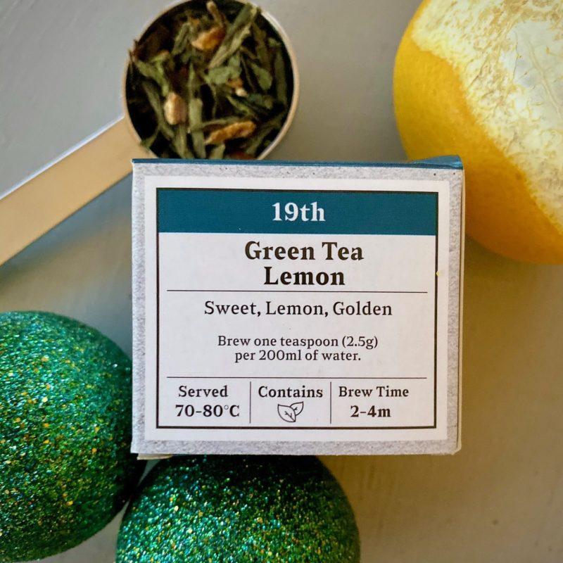 Advent Day 19- Green Tea Lemon