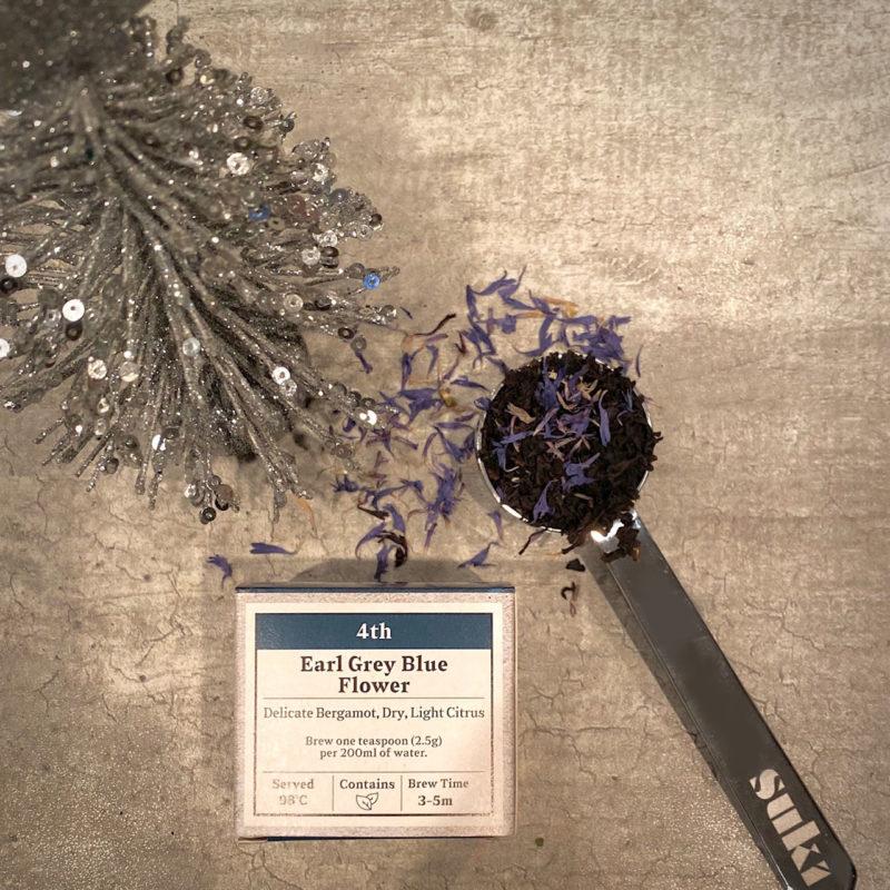 Advent Day 4- Earl Grey Blue Flower