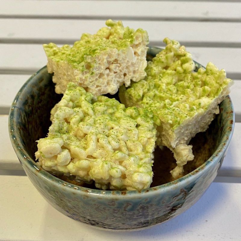 Matcha Marshmallow Crispies